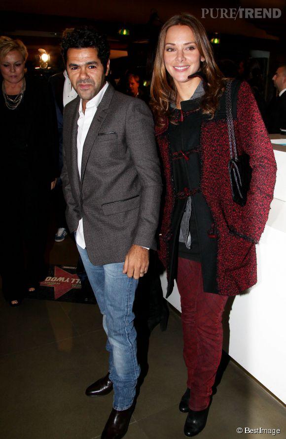 """Venus assister à l'avant-première d""""Hollywoo"""" Mélissa Theuriau et Jamel Debbouze prennent la pose en toute sobriété en novembre 2011 à Paris."""