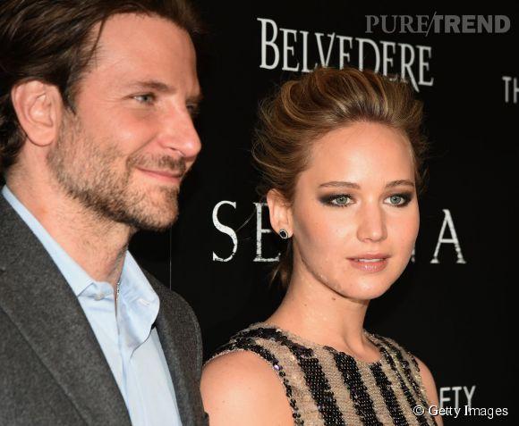 """Bradley Cooper et Jennifer Lawrence à la projection de """"Serena"""" à New York le 21 mars 2015."""