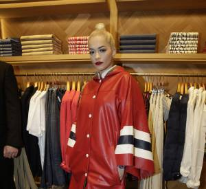 Rita Ora à l'inauguration de la nouvelle boutique Tommy Hilfiger à Paris, ce mardi 31 mars 2015.