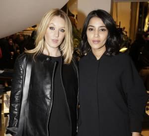 Ludivine Sagnier et Leïla Bekhti à l'inauguration de la nouvelle boutique Tommy Hilfiger à Paris, ce mardi 31 mars 2015.