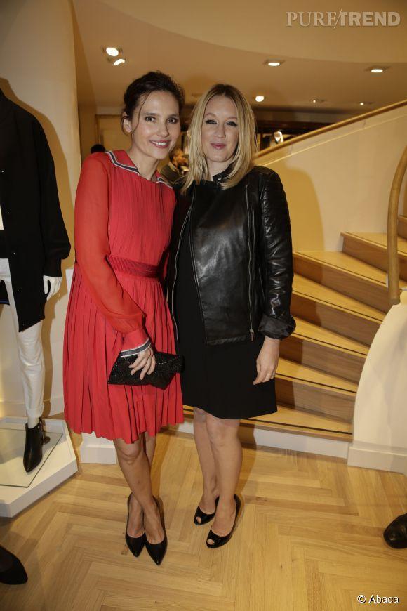 Virginie Ledoyen et Ludivine Sagnier à l'inauguration de la nouvelle boutique Tommy Hilfiger à Paris, ce mardi 31 mars 2015.