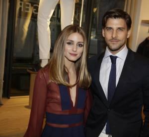 Olivia Palermo et Johnnes Huebel. à l'inauguration de la nouvelle boutique Tommy Hilfiger à Paris, ce mardi 31 mars 2015.