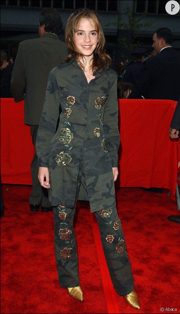 """Emma Watson en novembre 2002 à la première du film """"Harry Potter et la chambre des secrets""""."""