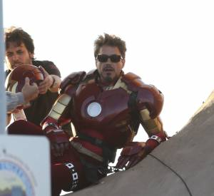 Robert Downey Jr dans la peau de Iron Man.