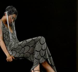 Lors de son passage chez Givenchy, Alexander McQueen met l'accent sur les contrastes de formes amples et d'imprimés très visuels (L'Officiel de la Mode, mars 1998).
