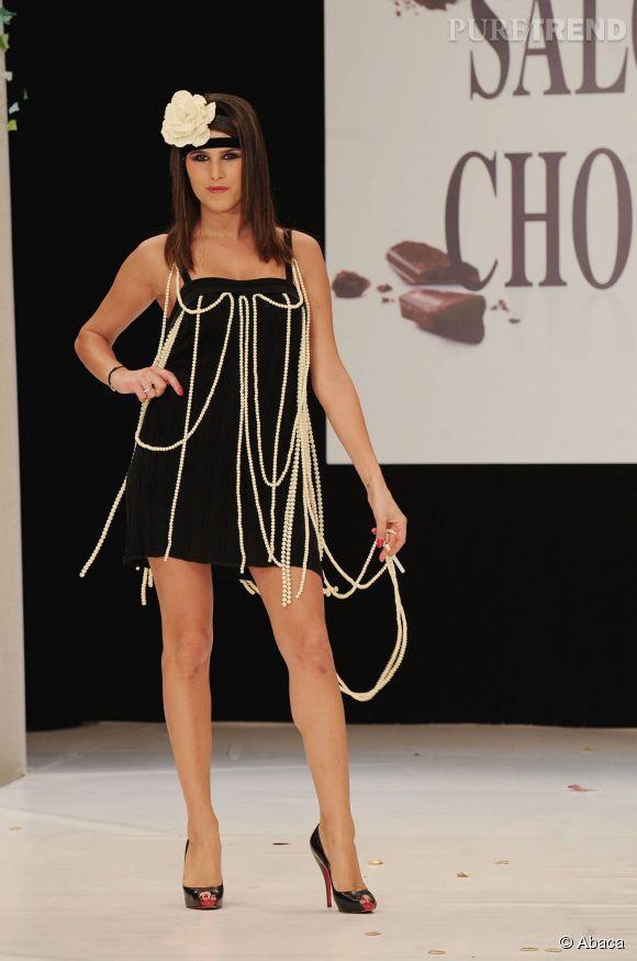 Karine Ferri très sexy pour le défilé annuel du Salon du chocolat octobre 2010.