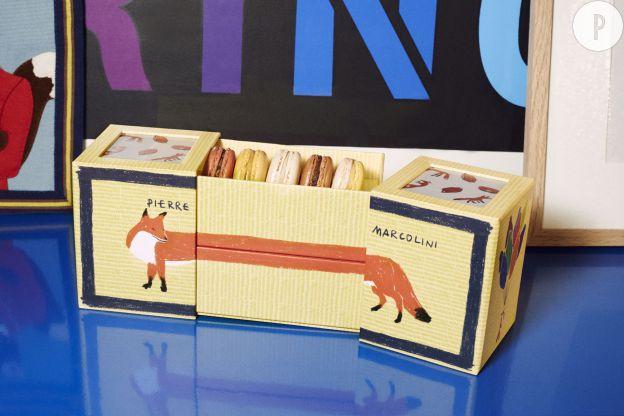 Pierre Marcolini x Kitsuné : la boite de macarons sur-mesure.Prix : 31€.