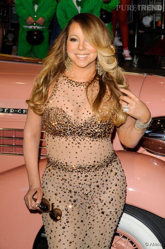 Mariah Carey lors de son arrivée officielle à Las Vegas le 27 avril 2015.