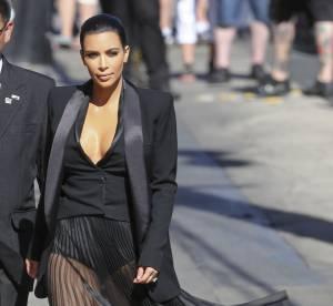 Kim Kardashian : En culotte gaine chez Jimmy Kimmel!