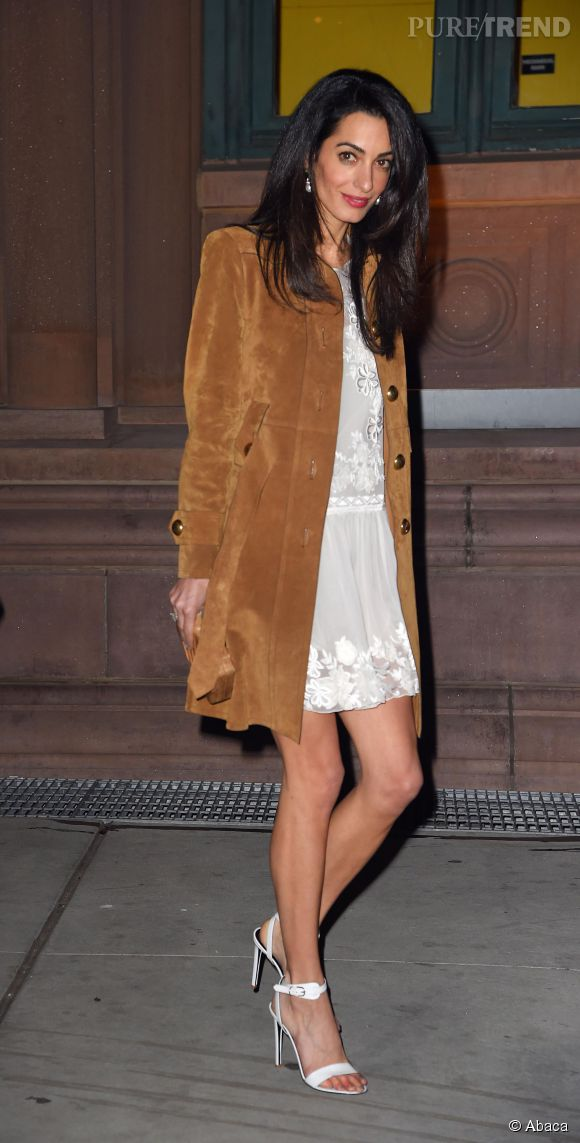 ClooneySexy Blanche York Petite Robe En New Puretrend Amal A 3Rj5cA4Lq