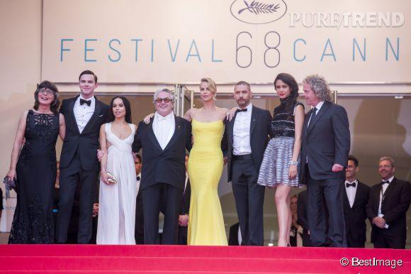 "Tout le casting du film ""Mad Max : Fury Road"", ce jeudi 14 mai 2015, au Festival de Cannes."