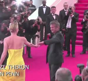 """Charlize Theron et Sean Penn ont marqué la montée des marches hier soir à Cannes pour """"Mad Max : Fury Road""""."""