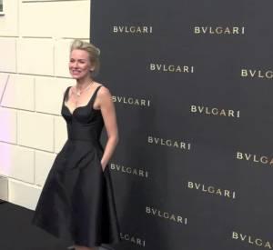 Naomi Watts inaugure le nouvel écrin de Bulgari à Cannes.