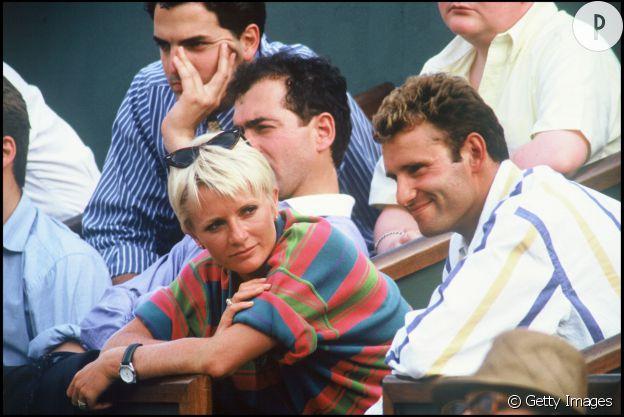 Sophie Davant et son mari Pierre Sled à Roland Garros en 1992.