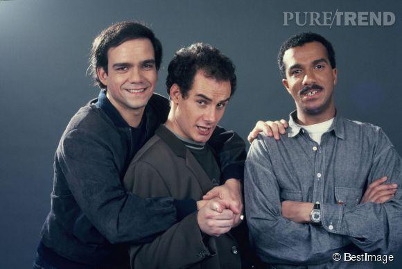 Didier Bourdon, Bernard Campan et Pascal Légitimus dans les années 80.
