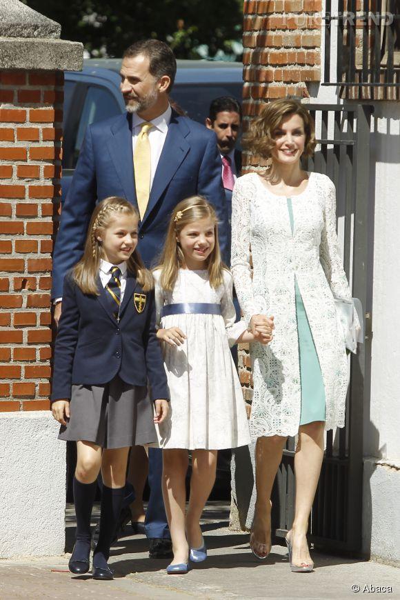 Letizia d'Espagne était très en beauté pour la première communion de sa fille Leonor.