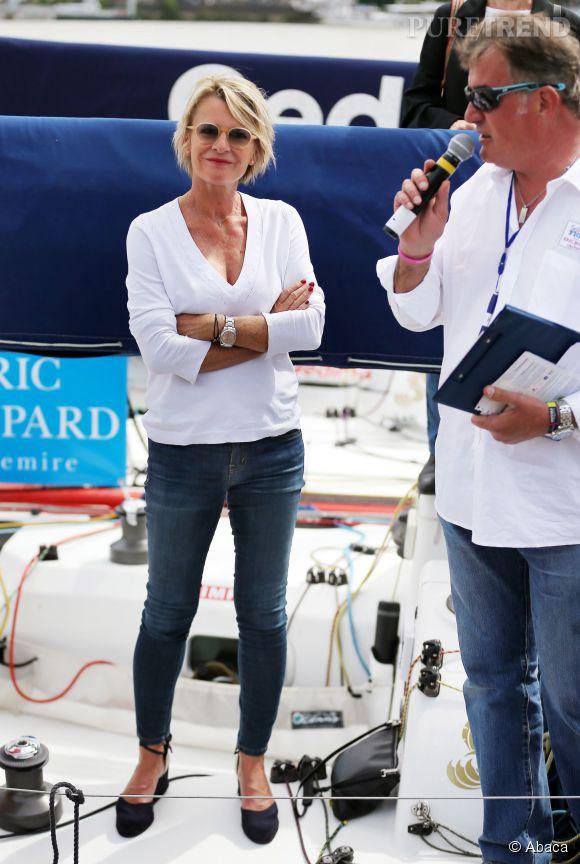 Sophie Davant est devenue la marraine du skippeur bordelais Martin Le Pape.