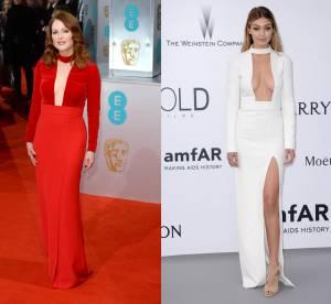 Julianne Moore vs Gigi Hadid : décolletées jusqu'au nombril en Tom Ford