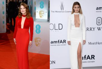 Julianne Moore vs Gigi Hadid : décolletées jusqu'au nombril en Tom Ford