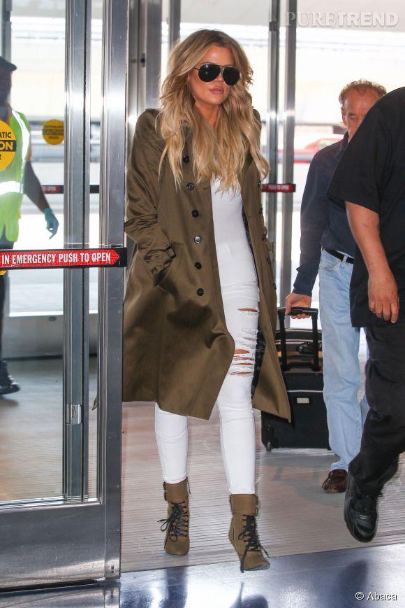 Tard A Veste À Ajouté Khloe Une Look Plus Son Kaki Kardashian BPwfgdq