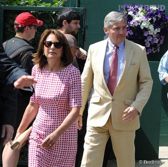 Kate Middleton et son mari Michael, les parents de Kate Middleton.
