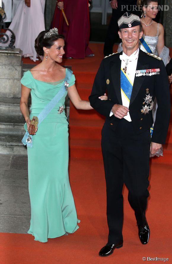 La princesse Marie de Danemark et son mari le prince Joachim, au mariage de Carl Philip de Suède et de Sofia Hellqvist à Stockholm le 13 juin 2015.