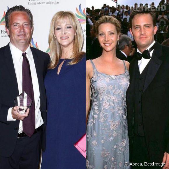 Lisa Kudrow et Matthew Perry le 15 juin 2015 et le 10 septembre 1997.
