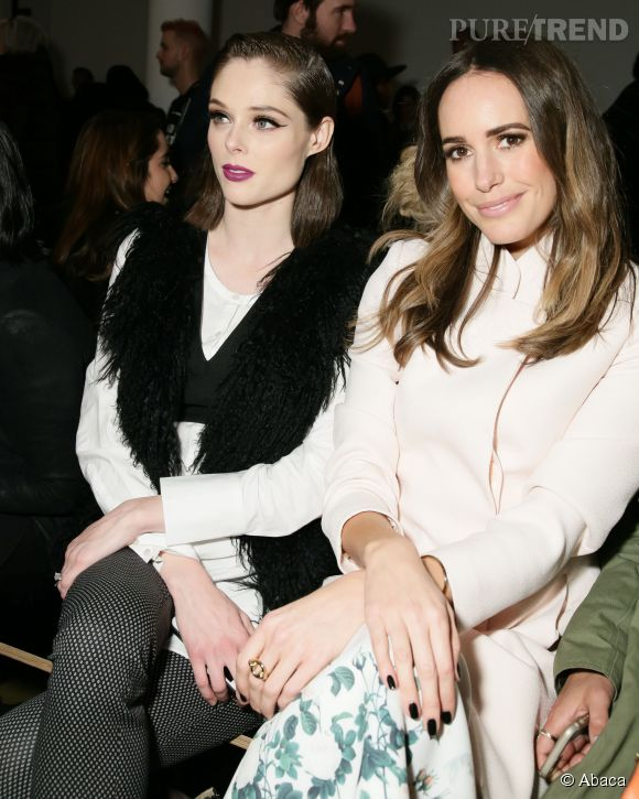 Louise Roe en front row avec le top model Coco Rocha.