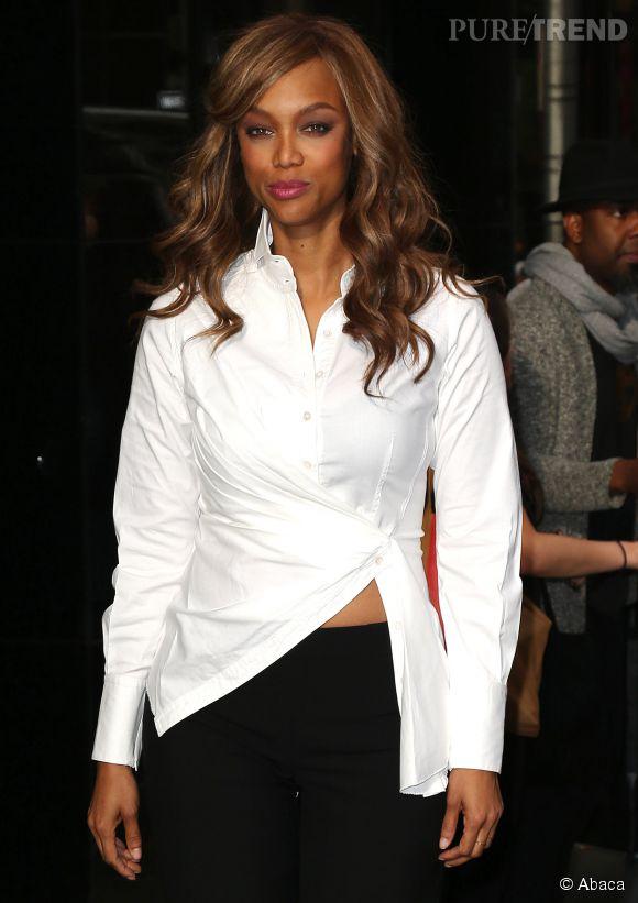 Look et make up toujours soignés, Tyra Banks a décidé de nous montrer son vrai visage.