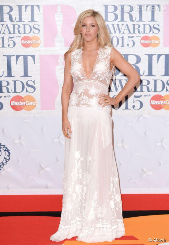 Ellie Goulding lors des Brit Awards 2015.