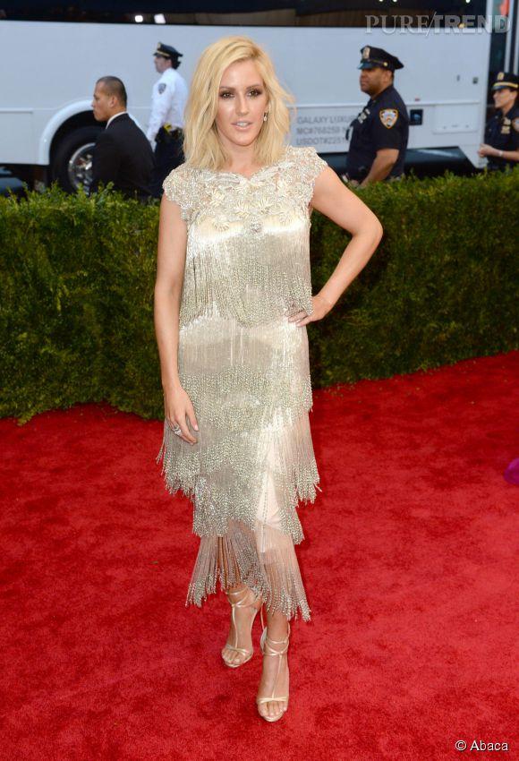 Ellie Goulding lors du Met Gala au Metropolitan Museum of Art à New York, le 4 mai 2015.