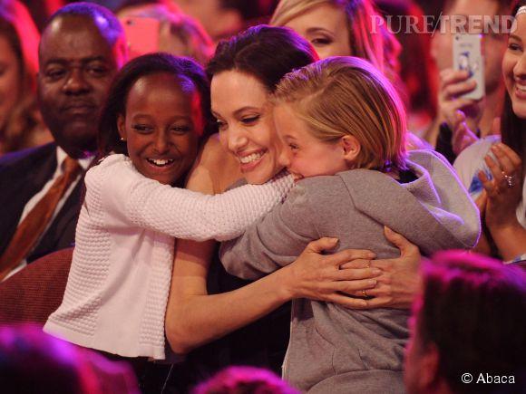 Angelina Jolie était accompagnée de ses enfants, à Londres.