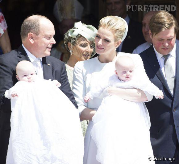 Albert de Monaco et Charlène ont baptisé leurs enfants le 10 mai dernier, cinq mois après leur naissance.
