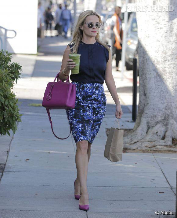 Reese Witherspoon, élégante pour une virée shopping à Los Angeles.