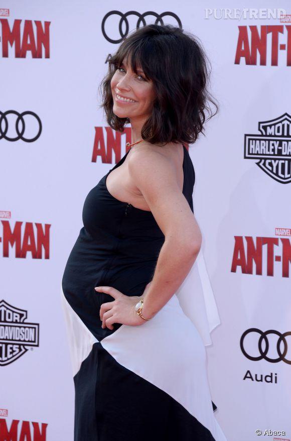 """C'est sur la tapis rouge de la première du film """"Ant-man"""" que Evangeline Lilly a annoncé la nouvelle."""