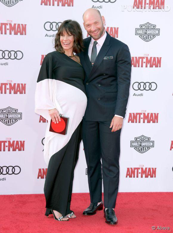 Evangeline Lilly avec l'acteur Corey Stoll.