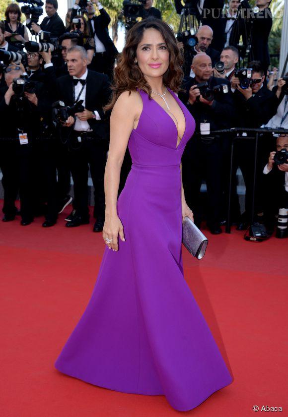 Salma Hayek, rayonnante lors du Festival de Cannes.