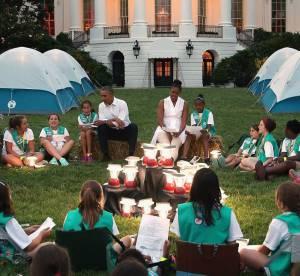 Michelle Obama : camping géant devant la Maison Blanche