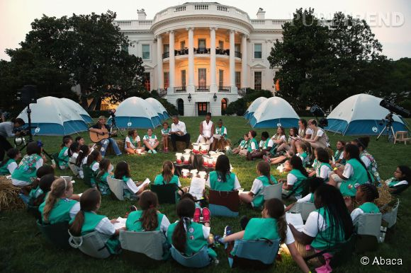 Michelle Obama a organisé un camp scout dans les jardins de la Maison Blanche le 30 juin 2015.