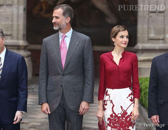 Le roi Felipe et Letizia d'Espagne visitent l'université autonome de Mexico le 30 juin 2015.
