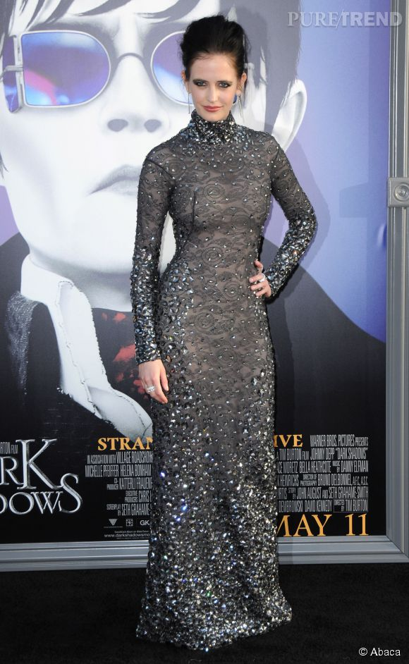 "Eva Green lors de la promotion du film ""Dark Shadows"" de Tim Burton."