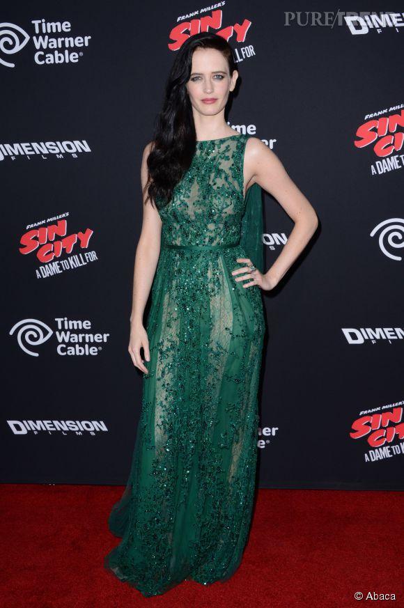 Le vert va à merveille à Eva Green.