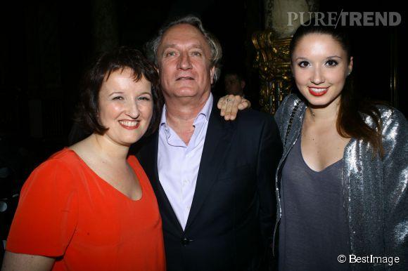 Anne Roumanoff, son mari Philippe et sa fille aînée, Alice.