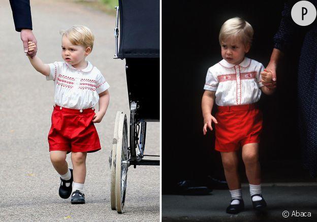 Ce dimanche 5 juillet 2015, le prince George était habillé exactement de la même façon que son père, le prince William en 1984.