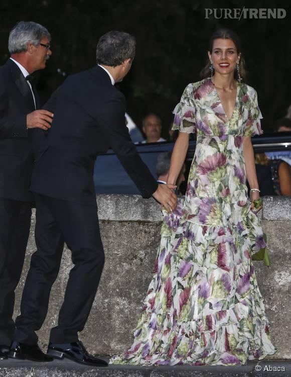 Charlotte Casiraghi au bras de Gad Elmaleh pour le mariage de Pierre  Casiraghi avec Beatrice Borromeo