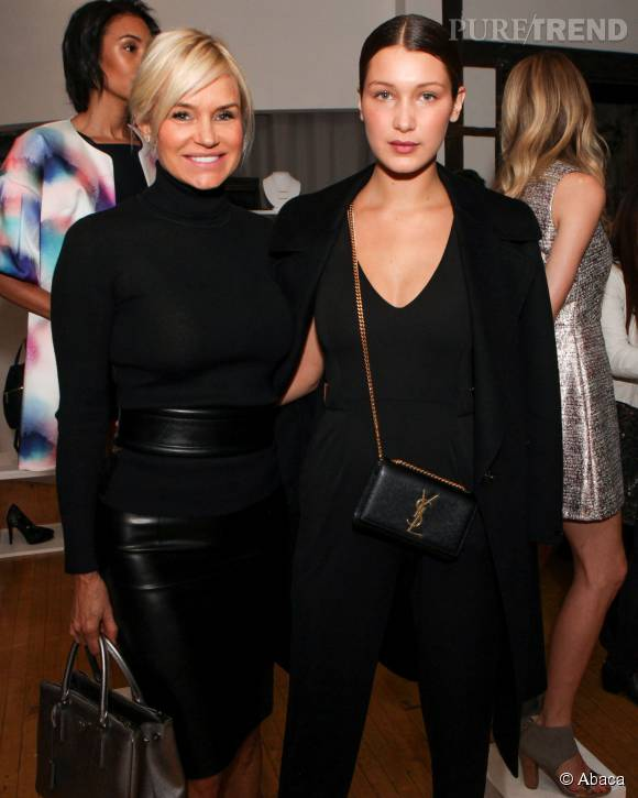 Yolanda Foster et sa fille cadette Bella Hadid.