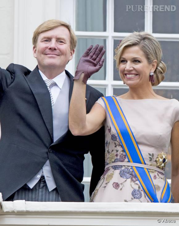 """Maxima et Willem-Alexander des Pays-Bas, un couple uni pour le """"Jour du Prince""""."""