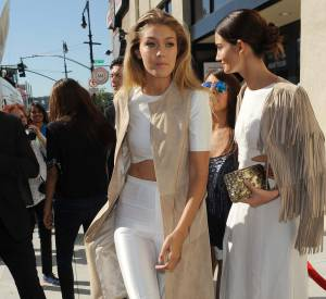 Gigi Hadid et Lily Aldridge joliment assorties à New York.