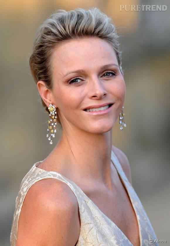 Charlène de Monaco, sublime avec ses cheveux courts.