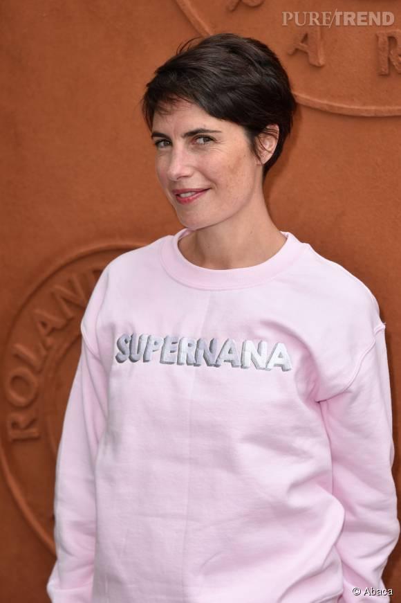 Alessandra Sublet a toujours opté pour une coupe courte.